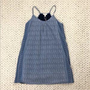 Soft Joie Navy Print Spaghetti Strap Tent Dress